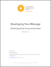 NAO_Developing Your Message Handout